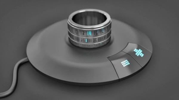 Кольцо-часы с подзарядным устройством.