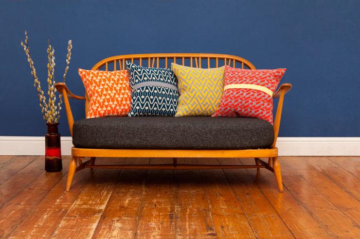Красочные декоративные подушки для дома от Seven Gauge Studios.