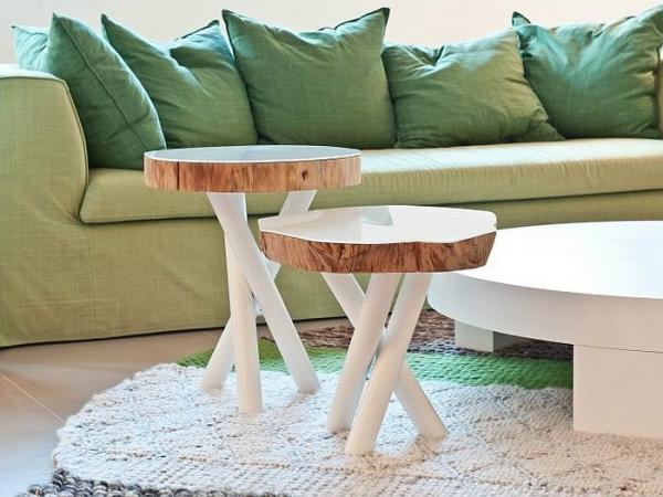 Кофейные столики на металлических ножках от дизайн-студии Momenti.