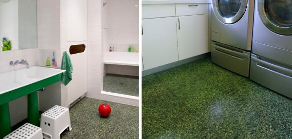 Плитка, имитирующая зеленый газон, от компании Imagine Tile.