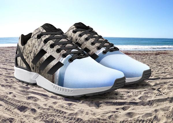 Кроссовки Adidas с принтом из Instagram.