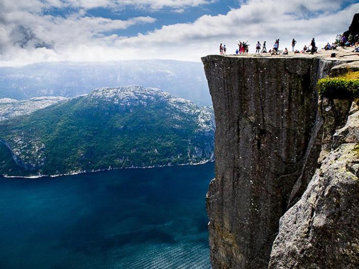 Preikestolen, Норвегия.