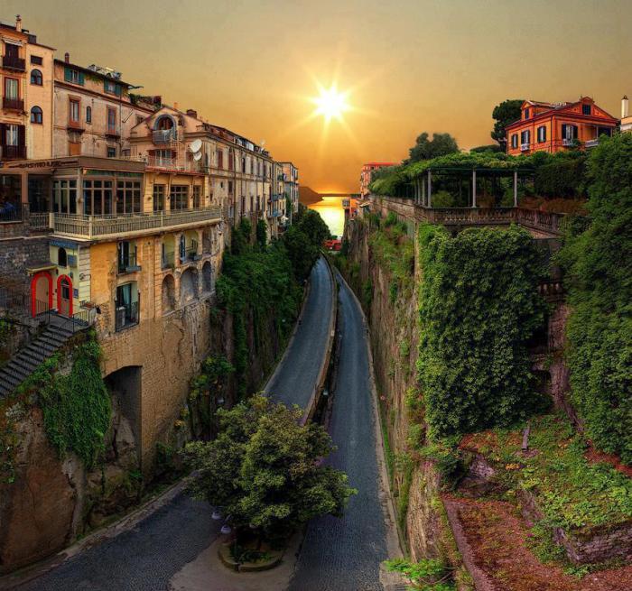 Сорренто, Южная Италия.