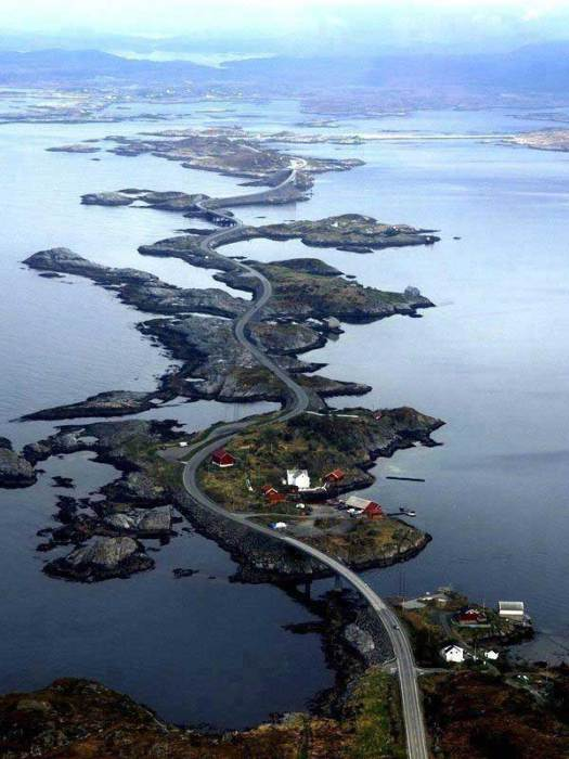 Atlantic Ocean Road, Норвегия.