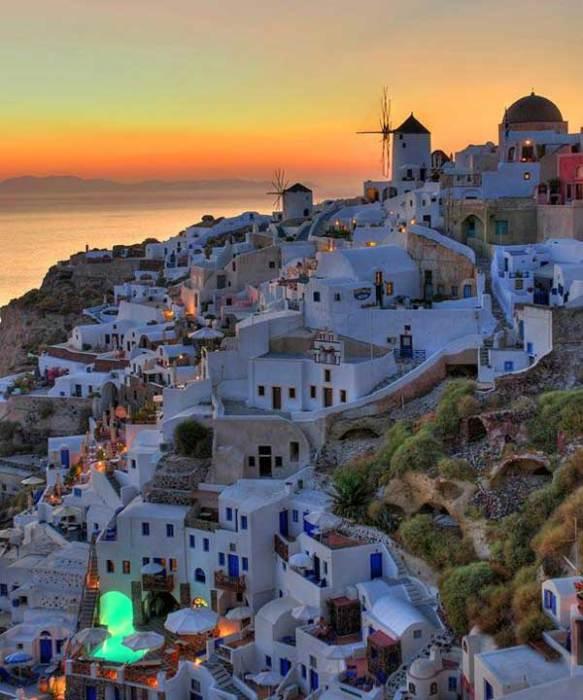 Санторини, Греция.