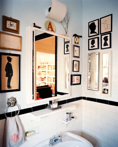 Black bathroom medicine cabinet