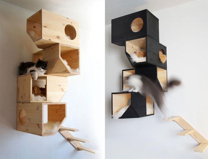 Настенный домик для кота от CatissaCatTrees.