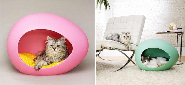 Оригинальный кошачий домик от Pei Pod.