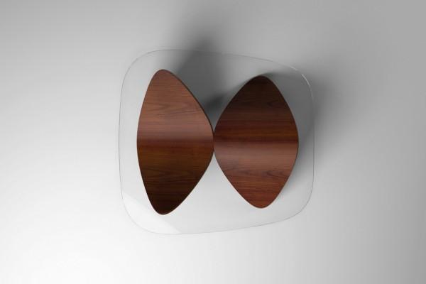 Стеклянный журнальный столик от Sandro Lopez.