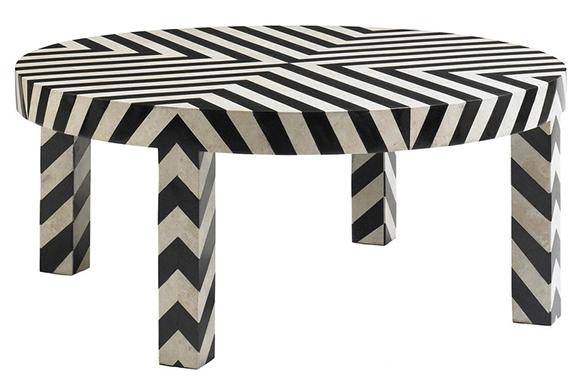 Веселый кофейный столик от DwellStudio Chevron.