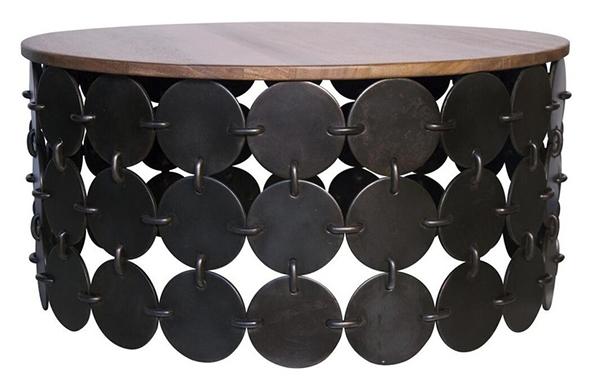 Круглый журнальный столик  от Noir Lola.