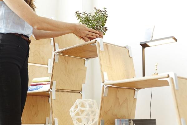 Оригинальная модульная конструкция для дома и офиса.