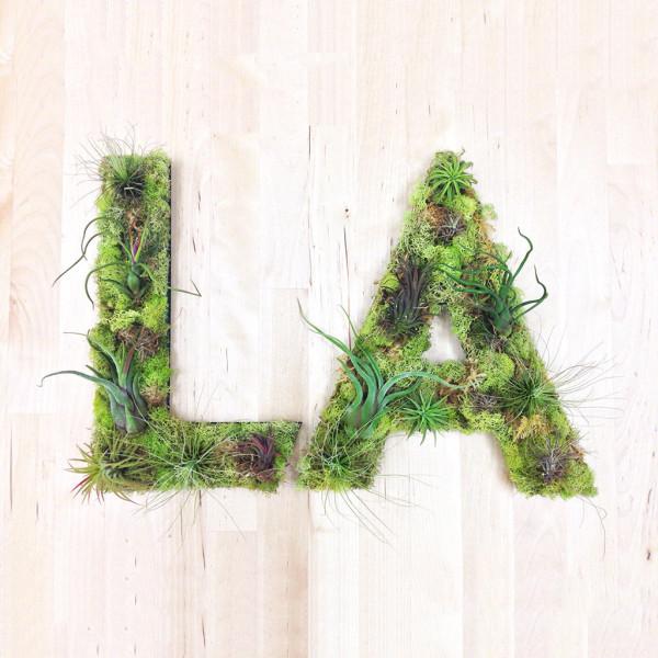 Аббревиатура из живых растений от Art We Heart.