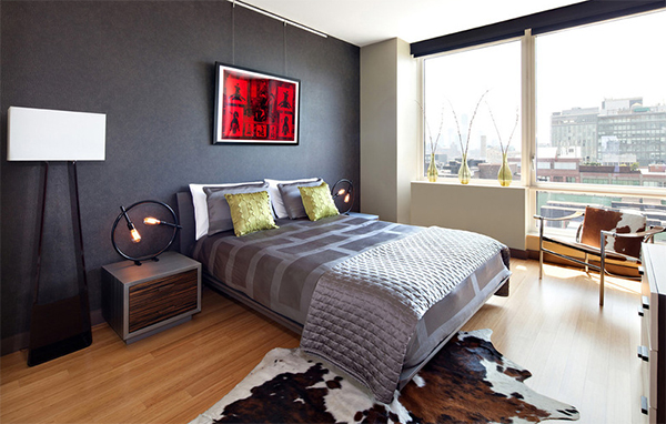 Коровий принт в интерьере спальни от Noha Hassan Designs.