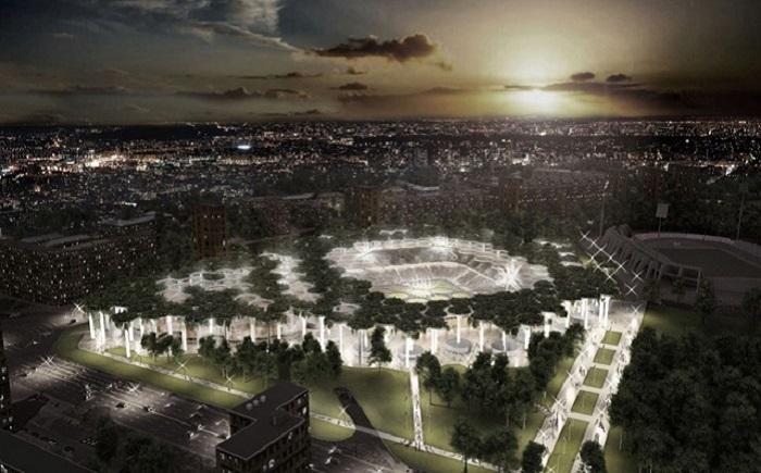 Проект футбольной арены немецкого бюро Stadiumconcept.