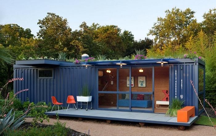 Дом из контейнера - креативный проект архитектурной фирмы Poteet Architects.