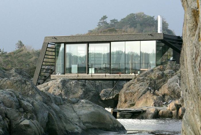 Lille Arоya - загородный дом на норвежском побережье.