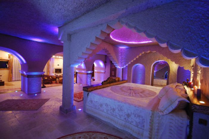 Gamirasu Cave - пещерный отель в Каппадокии (Турция).