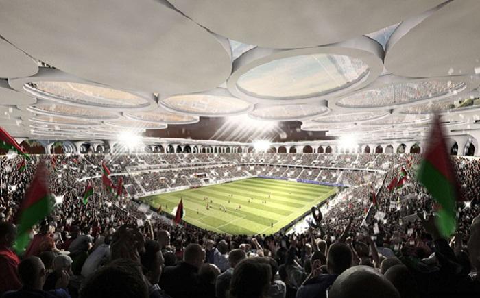 Стадион в Белоруссии. Дизайн крыши.