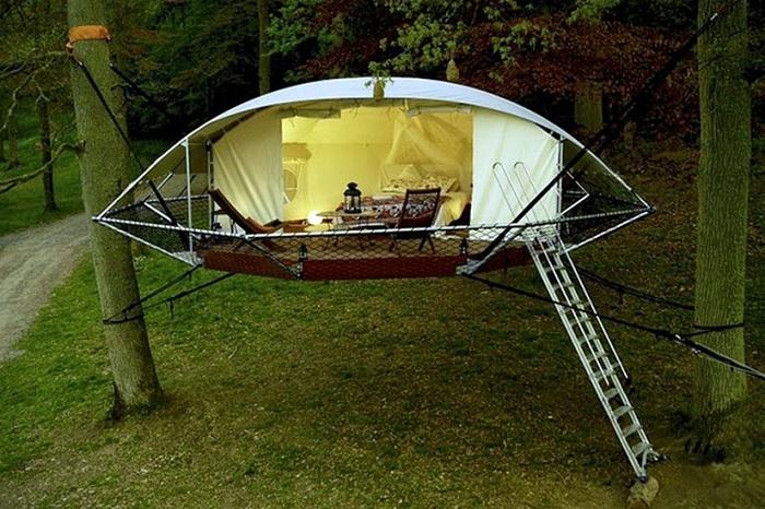 Dom'Up - подвесной домик-палатка.
