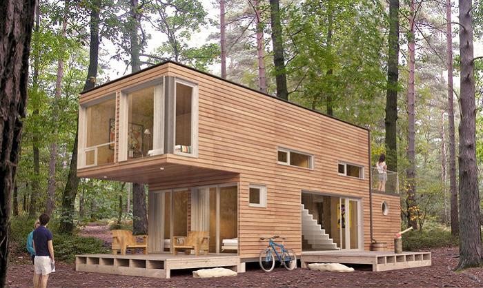 Прекрасное жилище посреди лесной чащи.