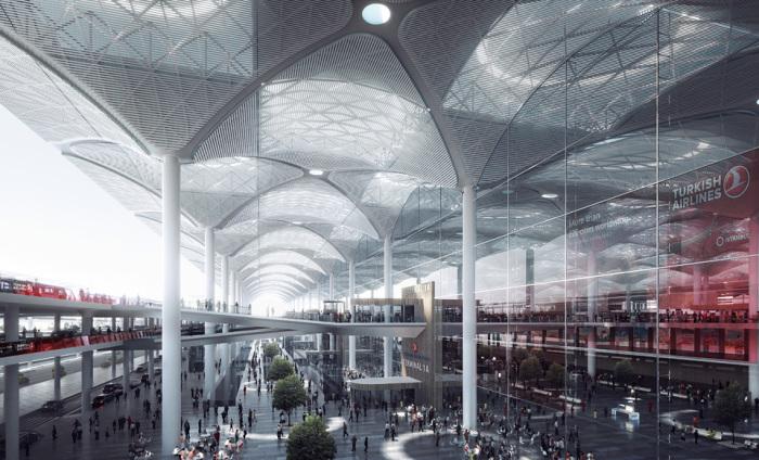 Куполообразный терминал будущего аэропорта в Турции.