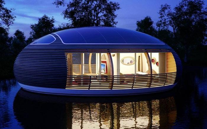 Экологически чистый дом на воде.