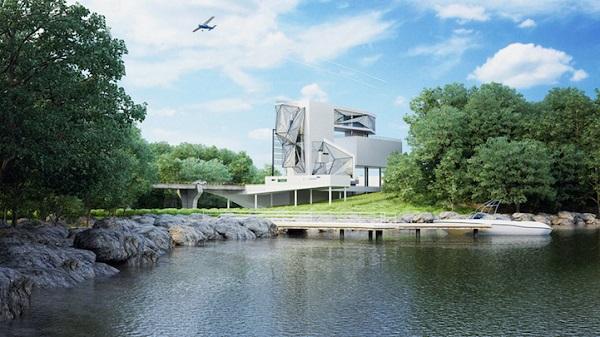 Обзорный вид на Aviator's villa.
