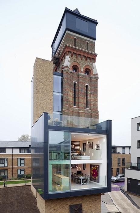 Проект реконструкции башни в дом архитекторов Leign Osborne и Graham Voce.
