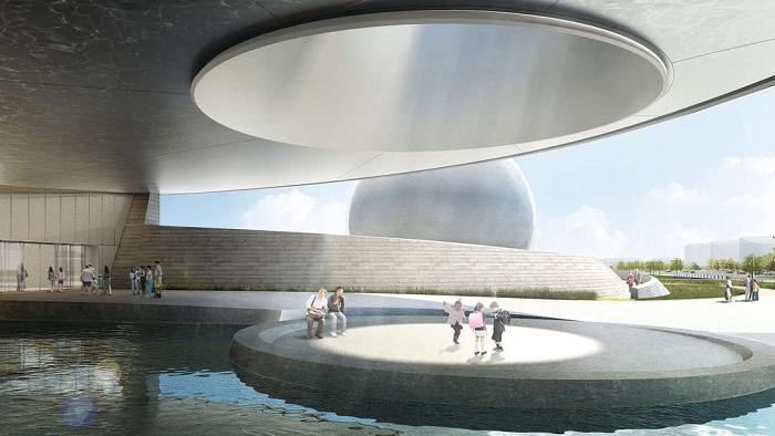 Oculus будет выполнять роль входа и солнечных часов.