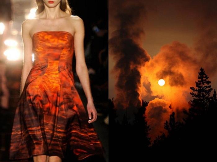 Платье, дизайн которого навеян самой природой.