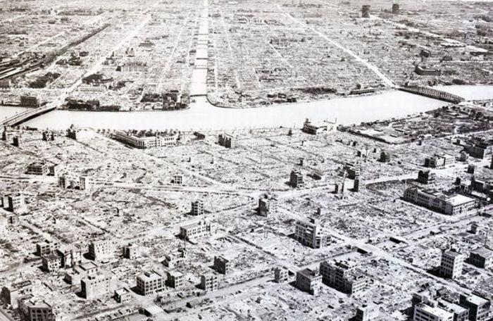 Токио после войны. 1945 год.