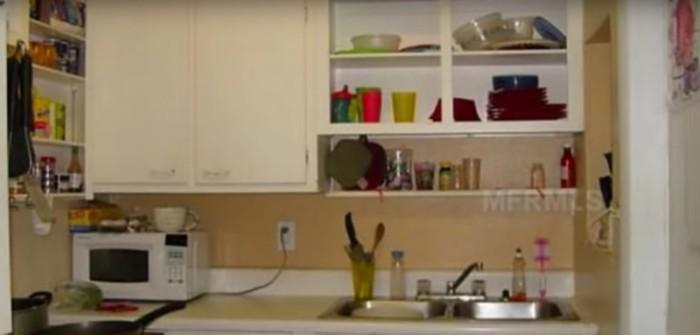 Вид кухни до ремонта.