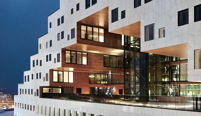 The Carve - здание-победитель архитектурного конкурса в Сингапуре.