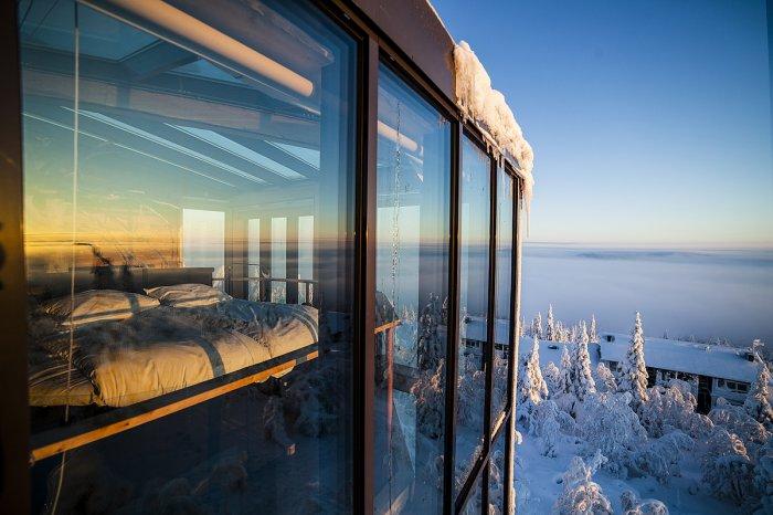 Стеклянный дом, построенный в Скандинавии. | Фото: re-actor.net.