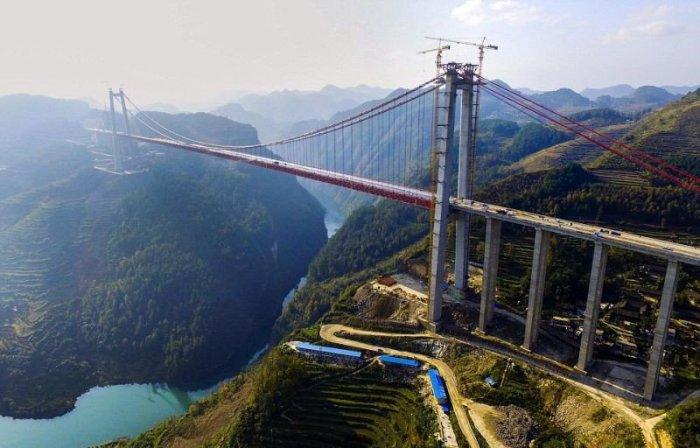 Мост Beipanjiang - самый высокий в мире подвесной мост.