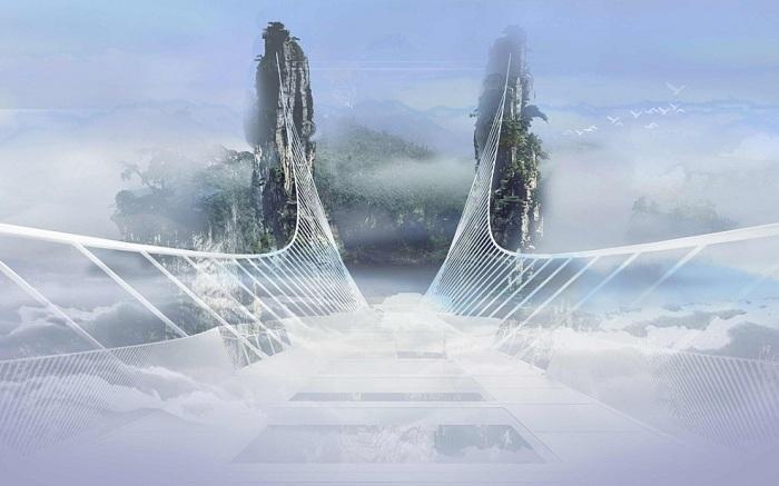 Стеклянный мост - архитекторский проект фирмы Haim Dotan.