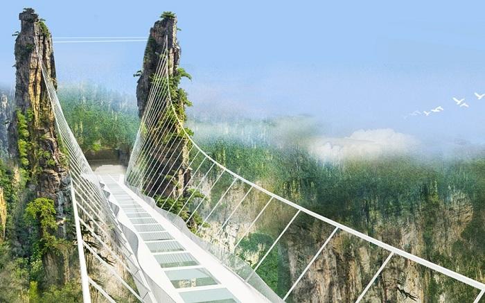 Самый высокий мост в мире Чжанцзяцзе.