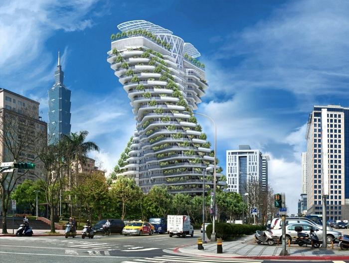 Agora Garden - 20-этажный дом с зелеными террасами.