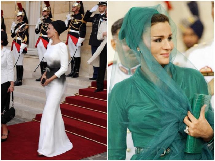 Жена бывшего эмира Катара Шейха Моза.   Фото: blameboogie.blogspot.com.