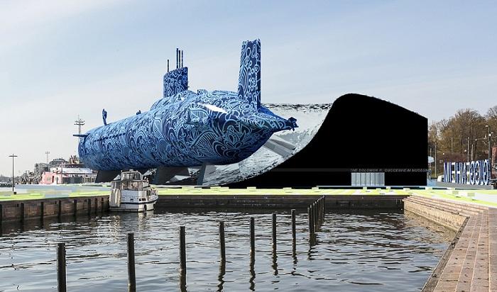 Проект музея Гуггенхайма с использованием подлодки.
