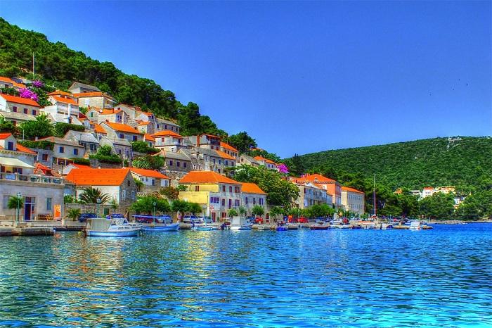 Живописный городок в Хорватии.