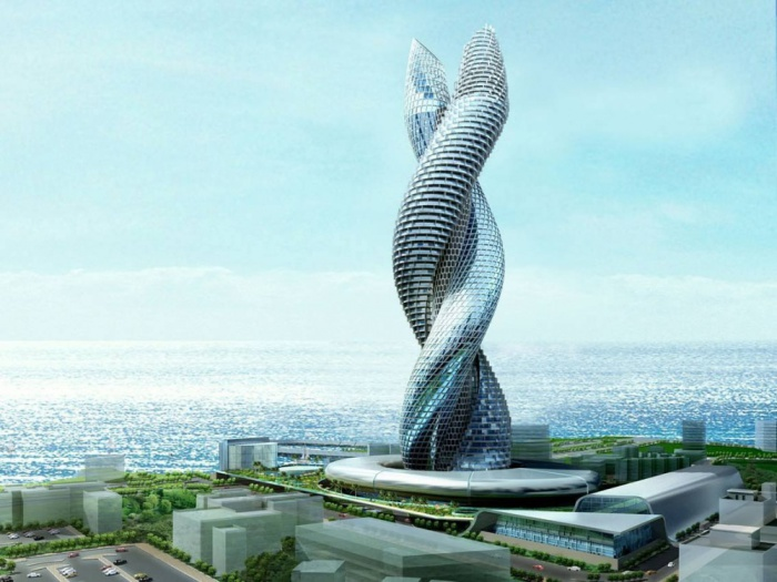 The Kuwait Cobra Tower - проект уникальной спиралевидной башни.