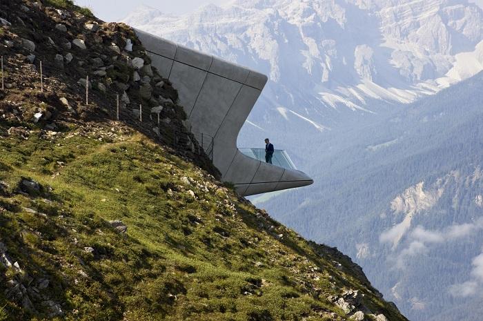 Музей, расположенный в Доломитовых Альпах.