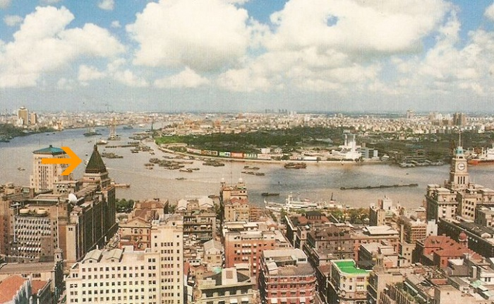 Архитектура Шанхая в 1990 году.