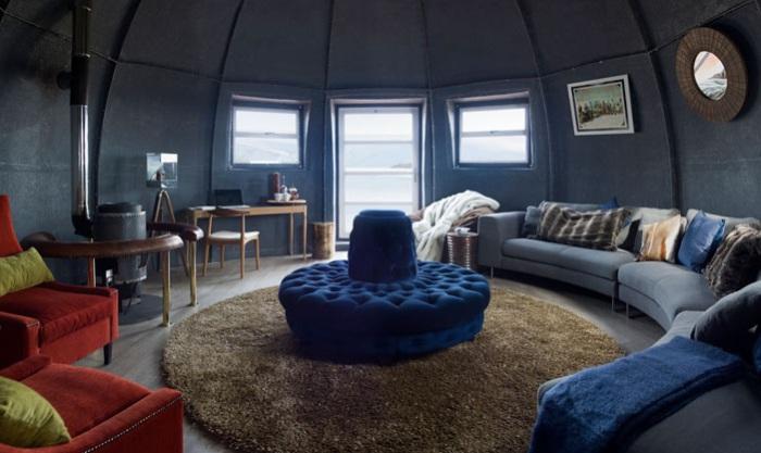 Купольный дом в Антарктиде. Место для отдыха.