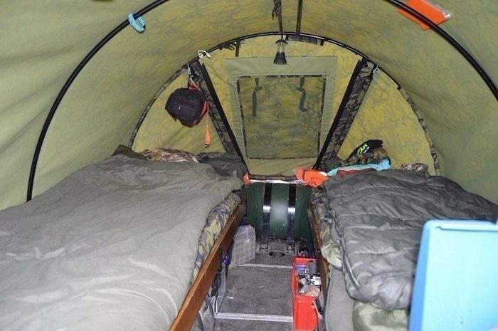 Спальные места на надувных лодках.