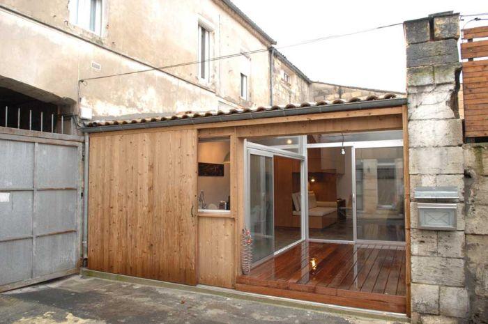 Дом, переделанный из гаража по проекту дизайнера FABRE/deMARIEN architects.