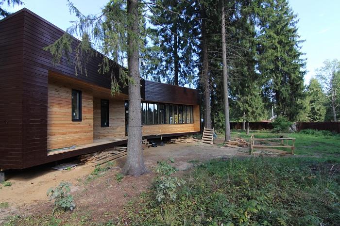 Модульный дом площадью 75,3 кв. метров.