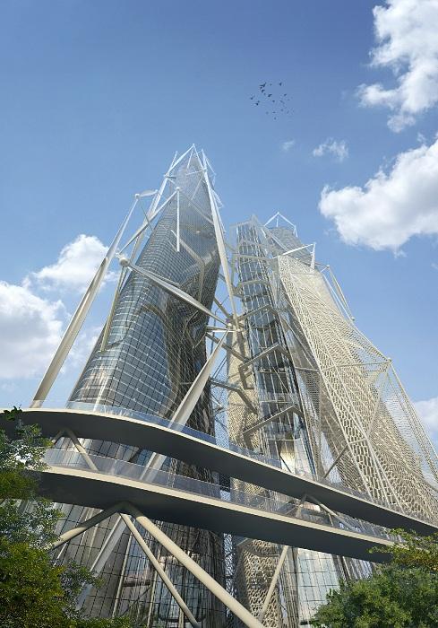 Проект небоскреба от российского архитектурного бюро Arch group.